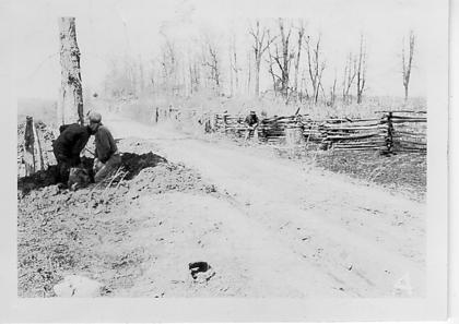 Pictured is a rail fence on Jericho Road, circa 1934-1942.