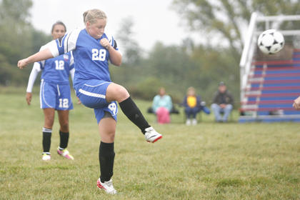 LaRue County sophomore Peyton Gardner advanced the offense on  