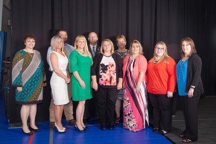 The 2015-16 Leadership LaRue County members are pictured from left: Leadership Chair Marsha Duncan, LaRue County Schools; Natalie Dixon, Transamerica; Andrew Bell, Security Seed and Chemical; Sandy Kidd, LaRue County Attorney's Office; Chris Price, LaRue County Schools; Rebecca Eads, Lincoln National Bank; Kim Boggs, Elizabethtown Community and Technical College; Toni Burton, City of Hodgenville; Samantha Sidebottom, Fort Knox Federal Credit Union; and Krista Levee, Executive Director.