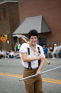 Connor Baete won third place in the Lincoln Look-a-like contest and marched in the parade.