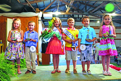 Little Miss and Master, from left, third – Brylee Dobson, daughter of Bobby and Shanna Dobson of Hodgenville and Titus Williams, son of Jeremy and Beth Williams of Hodgenville; first – Haley Curtsinger and Colton Curtsinger, son and daughter of Aaron and Jackie Curtsinger of Campbellsville; and second – Gavin Jurcak, son of Nedra Jurcak of Magnolia and Ella Reed, daughter of Patrick and Laura Reed of Hodgenville.