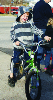 Logan Logsdon picked out a new bicycle.