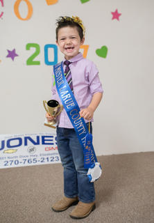 Henry Johnson, 4, of Buffalo won the Tiny Master pageant at the fair.