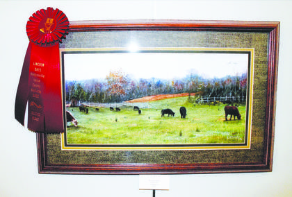 Carl McKinley placed second in the Open Division with his water color entry, 'Rural Kentucky.'