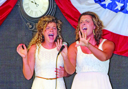 "Patsy and Katie Bowles of Elizabethtown belt it out to ""Changed"" by Rascal Flatts at the Talent Show."