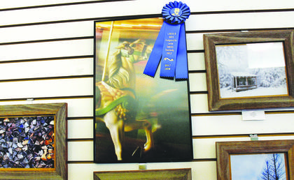 Stacy Humphrey's photo, 'St. Louis Carousel' was the winner of the Photography Division.