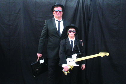 Family/Group Theme:   Most Original – 'Blues Brothers' Jim Bob and Gabriel Wright