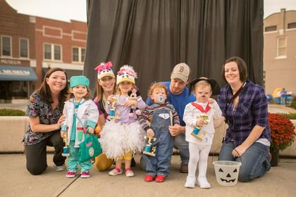 1-2 year old. Most Original – Annabelle Pearman; Funniest – Campbell Boyd;  Scariest – Maddox Masure; Cutest – Owen Thomas