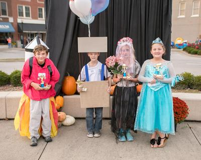 9-12 year old. Most Original – Sage Garris; Funniest – Camden Martin;  Scariest – Nikki Blair, Cutest – MacKenzey Rucker