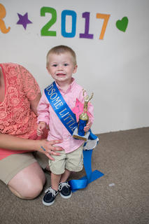 The winner of the most handsome little boy two to three-years-old was Jaxton Davis Flowers, 2, of Hodgenville.