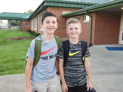 The Faulkner Brothers are pictured from left: Will (eighth grade) and Nate (sixth grade).