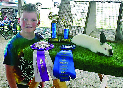 Gabriel Rock won Best in Show with his Himalayan at the LaRue County Fair Fun Show that was open to several other counties.