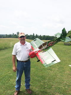 Jim Phelps was the guest speaker at last week's meeting of the Hodgenville Rotary Club. Phelps demonstrated a remote controlled model aircraft. He was the guest of Price Smith.