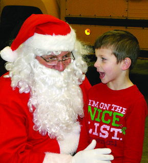 John Wiley, 6, asked Santa for a remote control snake – and a real baby brother.