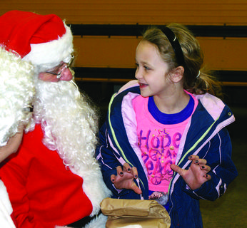 Leia Logsdon visited with Santa.