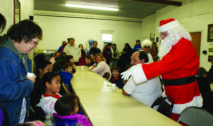 Santa visited with children and families at the Magnolia Firehouse.