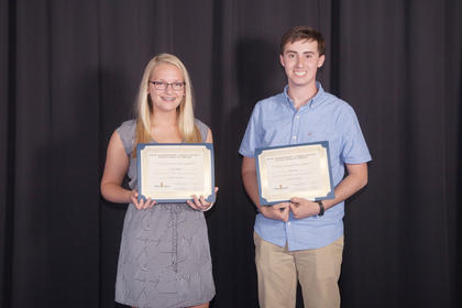 The recipients of the 2016 Leadership LaRue scholarships went to two LCHS students that have demonstrated academic excellence and a desire to give back to our community. Congratulations to Sierra Schmidt and Andrew Coy. Both winners received a $500 scholarship.