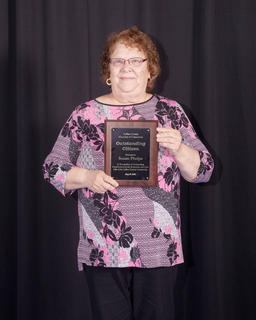 The 2016 Outstanding Citizen of the Year award was presented to Susan Phelps of Hodgenville, a recipient selected on the basis of significant contributions of service, devotion, involvement and responsibility to civic and service organizations, family and church.