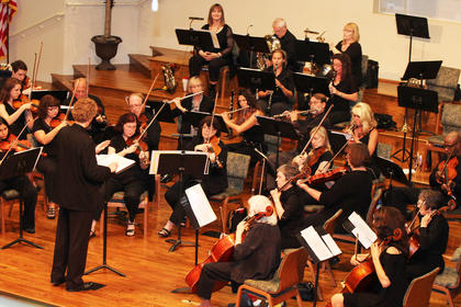 The Louisville Civic Orchestra performed Saturday at First Baptist Church Hodgenville. The event charged no admission, thanks to sponsors LG&E KU, Fort Knox Federal Credit Union and LaRue County Farm Bureau. About 600 people attended.