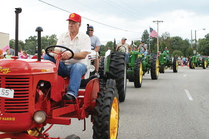 Lavon O'Dell drove a tractor in the parade.