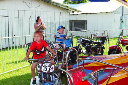 Colton Riggs enjoyed his ride on the motorcycles while Adrian Roarx was not such a happy camper.
