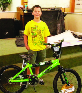 LaRue Baptist Church held vacation Bible school last week. Andrew Miller was the winner of the boy's bike.