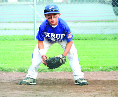 Will Ray played third base on the 8-year-olds All-Star team during the district tournament.