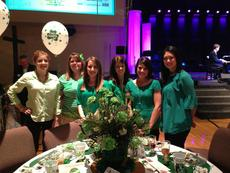 """<div class=""""source""""></div><div class=""""image-desc"""">Members of the Elizabethtown Junior Woman's club attended the annual Hosparus Tea on March 16.  In keeping with the tea's theme of  """"A Tea-riffic Time"""", club members decorated their table in St. Patrick's Day decor.  The club enjoyed great food, conversion, and entertainment, as well as the chance to bid on items in a silent auction.  From left: Leslie Steiner, Kristy Bacon, Leanna Milby, Andrea Pelley, Jessica Adkins, and Eileen Townsend. </div><div class=""""buy-pic""""><a href=""""/photo_select/26642"""">Buy this photo</a></div>"""