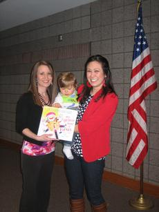 """<div class=""""source""""></div><div class=""""image-desc"""">The Elizabethtown Junior Woman's Club dedicates and donates children's books to the Hardin County Public Library when a member has a child. Pictured is President Leanna Milby with Secretary Eileen Townsend and son Caleb. </div><div class=""""buy-pic""""><a href=""""/photo_select/26645"""">Buy this photo</a></div>"""