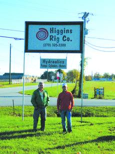 "<div class=""source"">Vanessa Hurst</div><div class=""image-desc"">Higgins Rig Company can be reached by phone, 270-325-3300. You can also visit their website higrig.com. Pictured at the Higgins Rig Co. shop are Craig Higgins and Rhett Higgins. </div><div class=""buy-pic""><a href=""/photo_select/45418"">Buy this photo</a></div>"