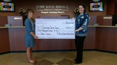 """<div class=""""source""""></div><div class=""""image-desc"""">Fort Knox Federal Credit Union is a Silver Sponsor for the LaRue County Relay for Life. Katie McDowell, Hodgenville branch manager, left, presents Kristin Darrow of the American Cancer Society the donation.</div><div class=""""buy-pic""""><a href=""""/photo_select/40793"""">Buy this photo</a></div>"""