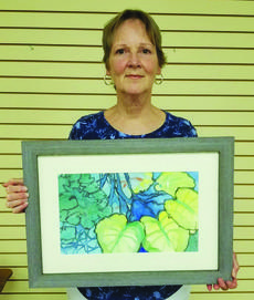 "<div class=""source"">Submitted Photo</div><div class=""image-desc"">Marilyn Matthews with her watercolor painting titled ""Underwater Life"" has been named the Central Kentucky Art Guild's Artist of the Month for June.  The Art Guild meets at 6:30 p.m. on the third Monday of every month at 790 Building Suite, 900 Dixie Highway in Elizabethtown. It is open to the public and all are welcome.</div><div class=""buy-pic""><a href=""/photo_select/64321"">Buy this photo</a></div>"