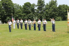 """<div class=""""source"""">Photo by Ben Loyall</div><div class=""""image-desc"""">The Marion County Veterans Honor Guard performed Taps to honor Edwin Pickerell.</div><div class=""""buy-pic""""><a href=""""/photo_select/64005"""">Buy this photo</a></div>"""