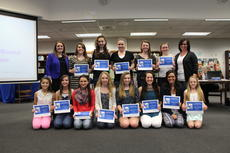 """<div class=""""source"""">Linda Ireland</div><div class=""""image-desc"""">The LaRue County High School Cheerleaders were honored March 16 by the LaRue County Board of Education. The cheerleaders, coached by Renee Wright and Megan Willard, have had an outstanding season on the regional, state and national level. Front from left, Taylor Caylao, Autumn Roten, Montana Metcalf, Darienne Grimes, Allyson Hutchins, Mallory Skaggs, Gabriela Garcia, Morgan Jaggers; back, Coach Megan Willard, Whitney Bauer, Ashlen Grubbs, Emily Miller, Kaylee Hornback, Emma Bowling and Coach Renee Wright.</div><div class=""""buy-pic""""><a href=""""/photo_select/40761"""">Buy this photo</a></div>"""