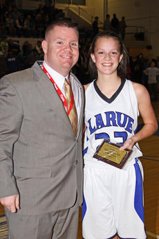 """<div class=""""source"""">Terry Sandidge</div><div class=""""image-desc"""">Presley Brown, shown with LaRue County High School Principal Kyle Goodlett, received All-Tournament honors.</div><div class=""""buy-pic""""><a href=""""/photo_select/40383"""">Buy this photo</a></div>"""