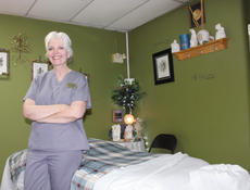 """<div class=""""source"""">Doug Ponder</div><div class=""""image-desc"""">Barbara Ruteck is the owner of Keep in Touch Massage Therapy at Smith's Plaza in Hodgenville. They are open Monday through Saturday by appointment only.   </div><div class=""""buy-pic""""><a href=""""/photo_select/43344"""">Buy this photo</a></div>"""