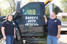 "<div class=""source"">Doug Ponder</div><div class=""image-desc"">Randy's Auto is an auto repair business that provides several services including major or minor car repair, semi-truck service and repair, oil changes, towing services and much more. Owner Randy Allen (right) is shown with his daughter Amber Allen Thompson (left). </div><div class=""buy-pic""><a href=""/photo_select/45178"">Buy this photo</a></div>"