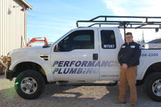 """<div class=""""source"""">Doug Ponder</div><div class=""""image-desc"""">Performance Plumbing is located on 1250 Old Elizabethtown Road in Hodgenville. The business provides plumbing services including the installation and maintenance of pipes, drains, fittings, fixtures, valves and other devices that are used for the distribution of potable water for drinking, washing and waste removal. Pictured is co-owner Lucas Hedgespeth. Not pictured are co-owners David Whelan and Brandon Gay.</div><div class=""""buy-pic""""><a href=""""/photo_select/45735"""">Buy this photo</a></div>"""