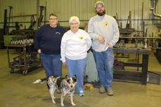"<div class=""source"">Doug Ponder</div><div class=""image-desc"">Skunkworks is a manufacturing and repair shop that is located on 78 Old Sonora Road in Hodgenville. Pictured from left are Fran Hatcher, Nancy Lawson, R.W. Chaudoin and Skunkworks' mascot Susie. </div><div class=""buy-pic""><a href=""/photo_select/46020"">Buy this photo</a></div>"