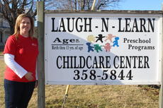 "<div class=""source"">Doug Ponder</div><div class=""image-desc"">Laugh N Learn owner Michelle Becker bought the childcare center in 2003. The preschool and child care center educates children and helps them develop social skills, emotional growth and physical coordination for children ages birth to 12-years-old. </div><div class=""buy-pic""><a href=""/photo_select/46605"">Buy this photo</a></div>"