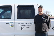 """<div class=""""source"""">Doug Ponder</div><div class=""""image-desc"""">Hodgenville Auto Detailing specializes in cleaning the inside and outside of vehicles, which includes buffing, waxing, shampooing the inside, degreasing the motor and more. </div><div class=""""buy-pic""""><a href=""""/photo_select/47037"""">Buy this photo</a></div>"""