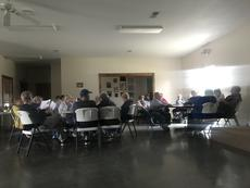 """<div class=""""source""""></div><div class=""""image-desc"""">Stockholders, fair board members and members of the community gathered tonight for a special called stockholders meeting of the LaRue County Fairgrounds. Those in attendance, sat in the dark, as the building electricity has been turned off. </div><div class=""""buy-pic""""><a href=""""/photo_select/62971"""">Buy this photo</a></div>"""