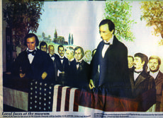"""<div class=""""source"""">File photo</div><div class=""""image-desc"""">The Lincoln and Douglas figures were reversed from their present positions when the Lincoln Museum opened in 1989. Douglas' hand was cupped, ready to hold a watch to time Lincoln's speech. He has since lost a pinky on that hand when a museum visitor decided to """"test"""" it and gave it a twist.</div><div class=""""buy-pic""""><a href=""""/photo_select/33531"""">Buy this photo</a></div>"""