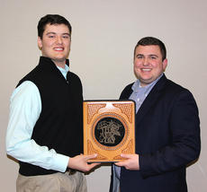 "<div class=""source"">Photo by Alex Tolbert/American Angus Association</div><div class=""image-desc"">Ben Conner, Hodgenville, right, received the Outstanding Junior Member award at the Kentucky Angus Association Annual Meeting and Banquet, March 6 in Louisville. Presenting the award is Corbin Cowles, Kentucky Junior Angus Association vice president. </div><div class=""buy-pic""></div>"