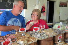 "<div class=""source"">Ron Benningfield</div><div class=""image-desc"">Pat Durham and Sweet Shoppe 11-year employee Nancy Parrish examine one of the 60 varieties of candy the Hodgenville business offers.</div><div class=""buy-pic""><a href=""/photo_select/42676"">Buy this photo</a></div>"