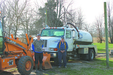 "<div class=""source"">Vanessa Hurst</div><div class=""image-desc"">Powells Septic Service offers septic system installation, tank service, pumping and more. Pictured with his pumper truck is owner Claude Powell, right, and standing near the backhoe on the left is Chad White.</div><div class=""buy-pic""><a href=""/photo_select/46151"">Buy this photo</a></div>"