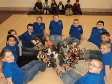 "<div class=""source""></div><div class=""image-desc"">The team shows off their lucky socks. Isaiah Pruitt, Nick Vazquez, Gabi Faught, Biven Turner, Josh Harper, Seth Lawson, Gavin Whitehouse, Dylan Rowe, Simon Coy, Mason Lane and Samuel Goff.</div><div class=""buy-pic""><a href=""/photo_select/26656"">Buy this photo</a></div>"