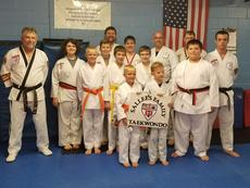 "<div class=""source"">Submitted Photo</div><div class=""image-desc"">Sallee's Family Taekwondo held their testing and bet promotion on June 7. Pictured are Charlie Ragland, Keaton Nall, John Wiley, Cory Ragland, Seth Strock, Owen Traxler, Matthew Stephens, Randal Sallee Jr., Madeline Warren, John Laughner, Bradley Laughner, Jerry Bird, Patrick Campbell, and Blake McGonigle. </div><div class=""buy-pic""><a href=""/photo_select/64902"">Buy this photo</a></div>"