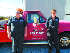 """<div class=""""source"""">Doug Ponder</div><div class=""""image-desc"""">Triple T Auto in Magnolia provides a variety of services including vehicle diagnostics, automotive repair, vehicle body repair, towing and much more. Pictured from left are Owner Leonard Thompson and mechanic Wesley Jaggers. </div><div class=""""buy-pic""""><a href=""""/photo_select/45412"""">Buy this photo</a></div>"""