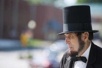 Abraham Lincoln as portrayed by Jim Sayre.